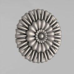 Carved rosettes decor 40 3D Model