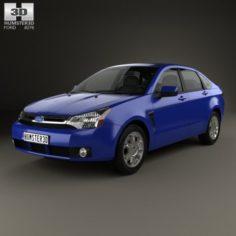Ford Focus SES US sedan 2007 3D Model