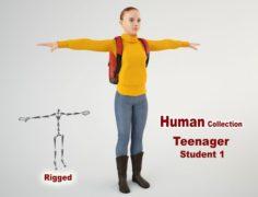 Teenager Student 1 3D Model