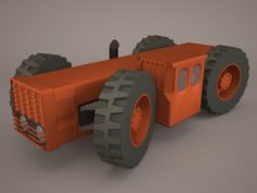 Old Tractor 3D Model