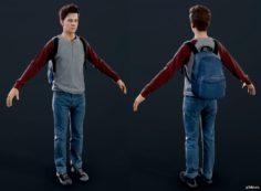 Young Samuel 3D Model