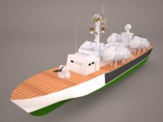 Osa-class missile boat 3D Model