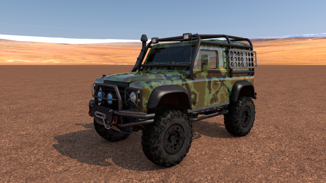 Land Rover Defender Off-Road 3D Model