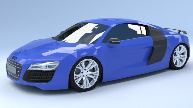 Audi R8 Low Poly 3D Model