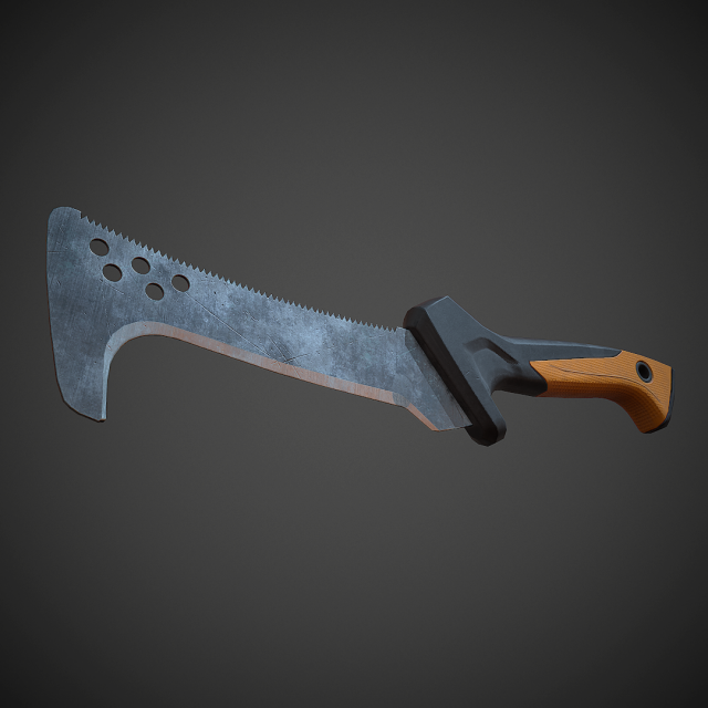 Realistic Knife PBR Low Poly 3D Model