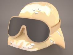 Combat Helmet Ballistic 3D Model