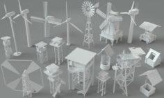 Environment Units-part-1 – 19 pieces 3D Model