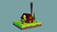 Low-poly House 3D Model