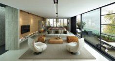 Penthouse Livingroom 3D Model