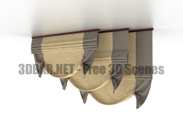 Roman curtains 3D Collection