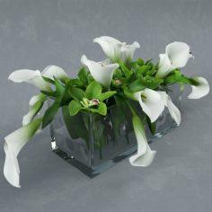Bouquet in glass vase 3D Model