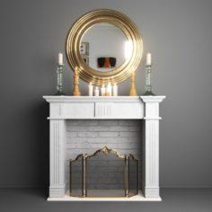 Decorative Fireplace Set 3D Model