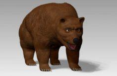 Rigged bear 3D Model