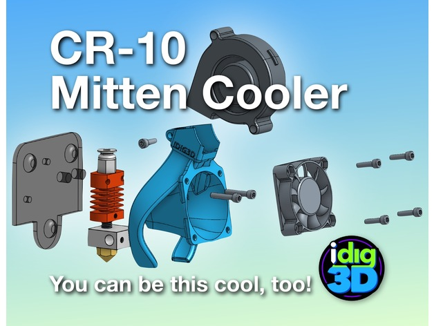 CR-10 / Tronxy Mittens Cooler 3D Print Model