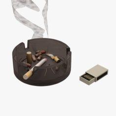 Smoke Cigarette 3D Model
