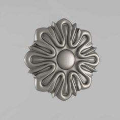 Carved rosettes decor 6 3D Model