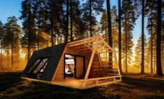 Glamping pod tiny house 3D Model
