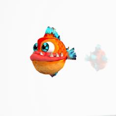 Fish Cartoon 3D Model