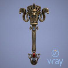 Fantasy torch 3D Model