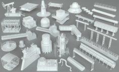 Factory Units-part-1 – 32 pieces 3D Model
