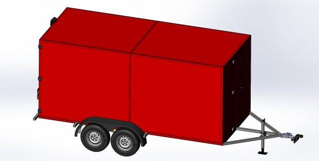 14 ENCLOSED TRAILER 3D Model