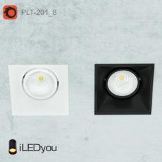 PLT-201_8 recessed rotary lamp                                      Free 3D Model
