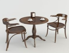 Table Chairs – Tavern Bar 2 3D Model