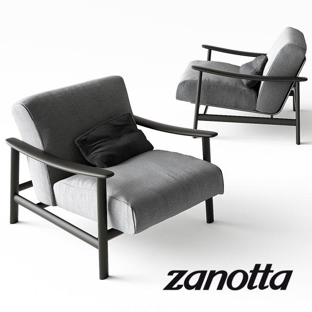 Zanotta Sushi Armchair 3D Model