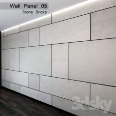 Wall Panel 05. Stone Bricks                                      Free 3D Model
