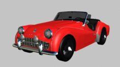 1962 Triumph TR3B 3D Model