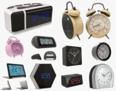 3D Alarm Clocks model 3D Model