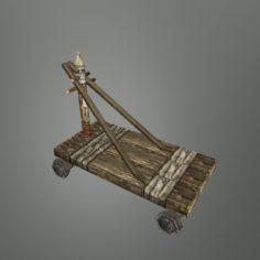 Medieval Transport cart 02 3D Model