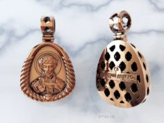 Gold pendant of St Dmitry Donskoy 3D Model