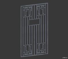 High Rent Door Cage 3D Model