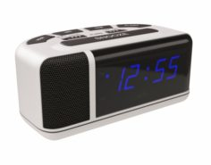 Acctim Excelsior Blue LED Mains Electric Bold Bedside Alarm Clock 3D Model