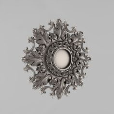 Carved rosettes decor 57 3D Model