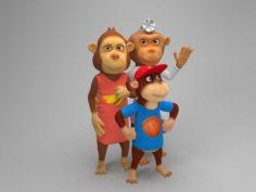 Ape family 3D Model