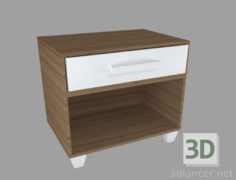 3D-Model  Bedside table.