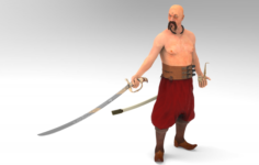 Ukrainian Cossack 3D Model