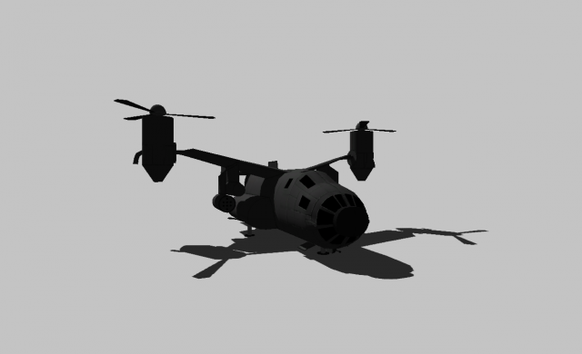 Military air transport 3D Model