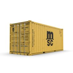 20 feet MSC standard shipping container 3D Model