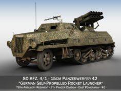 SDKFZ 4 – Panzerwerfer 42 – 7PD 3D Model