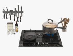 Kitchen Set 02 3D Model
