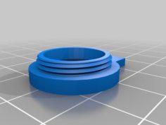 18mm to 16mm screw diameter adapter for 8X zoom lens 3D Print Model