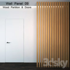Wall Panel 09. Wood Parition                                      3D Model