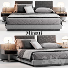 Minotti Yang Bed                                      3D Model