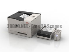 Office PC equipment printer scaner ups 3D Collection