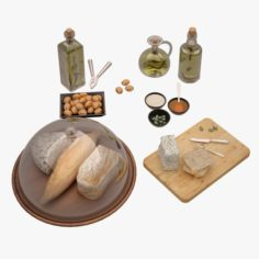 Bread Board 01 3D Model