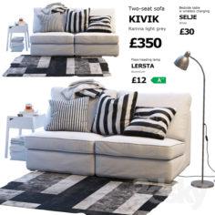 Sofa Ikea Kivik 1                                      3D Model