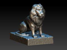 Printable lion 3D Model